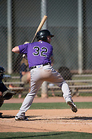 Colorado Rockies outfielder Vince Fernandez (32) during a Minor League Spring Training game against the Milwaukee Brewers at Salt River Fields at Talking Stick on March 17, 2018 in Scottsdale, Arizona. (Zachary Lucy/Four Seam Images)