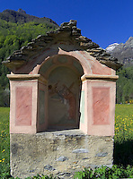 CHE, Schweiz, Tessin, Sonogno im Val Verzasca: Capella della Piana | CHE, Switzerland, Ticino, Sonogno at Val Verzasca: Capella della Piana