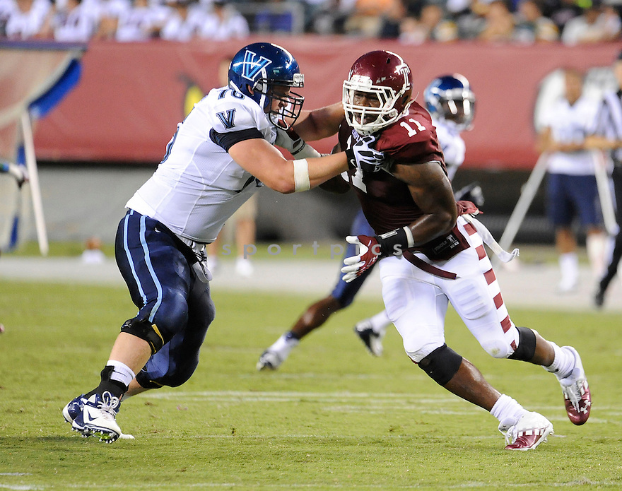 Temple Owls John Youboty (11) in action during a game against the Villanova Wildcats on August 31, 2012 at Lincoln Financial Field in Philadelphia, PA. Temple beat Villanova 41-10.
