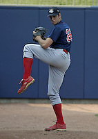 June 7, 2004:  Pitcher Scott Mathieson of the Lakewood Blueclaws, Low-A South Atlantic League affiliate of the Philadelphia Phillies, during a game at Classic Park in Eastlake, OH.  Photo by:  Mike Janes/Four Seam Images