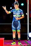 Nairo Quintana, winner of La Vuelta a España 2016 and Esteban Sanchez third position in Madrid. September 11, Spain. 2016. (ALTERPHOTOS/BorjaB.Hojas)