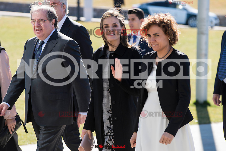 """Queen Letizia arrives to the closing of International Congress """"Woman and Disability"""" at congress center """"Lienzo Norte"""" in Avila, Spain. March 01, 2017. (ALTERPHOTOS/BorjaB.Hojas)"""
