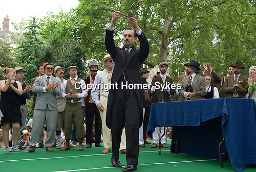 "The Chap Olympiad Bedford Square London UK. The ceremony of lighting the Olympiad Pipe at the start of the ""Chap Olympiad""."