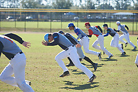 during the Baseball Factory All-America Pre-Season Rookie Tournament, powered by Under Armour, on January 14, 2018 at Lake Myrtle Sports Complex in Auburndale, Florida.  (Michael Johnson/Four Seam Images)