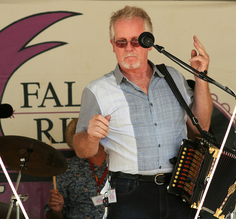 Jesse Lege of Jesse Lege & Bayou Brew performing on the Main Stage at the Falcon Ridge Folk Festival, held on Dodd's Farm in Hillsdale, NY on Saturday, August 1, 2015. Photo by Jim Peppler. Copyright Jim Peppler 2015.