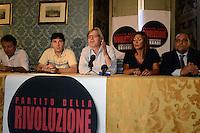 Roma 14 Luglio 2012.Vittorio Sgarbi presenta il suo Partito della Rivoluzione, laboratorio Sgarbi