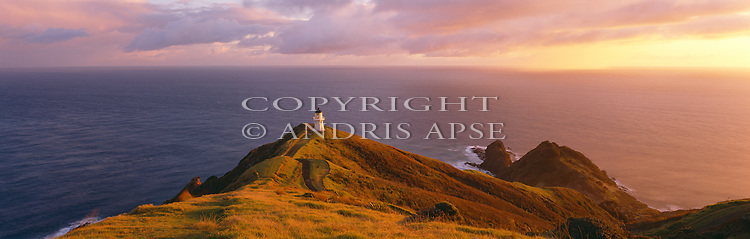 Cape Reinga lighthouse. Northland Region. New Zealand.