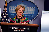 Dr. Deborah L. Birx, White House Coronavirus Response Coordinator, speaks during a news conference at the White House in Washington D.C., U.S. on Monday, April 20, 2020. <br /> Credit: Tasos Katopodis / Pool via CNP