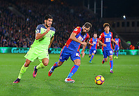 Emre Can and Joe Ledley during the EPL - Premier League match between Crystal Palace and Liverpool at Selhurst Park, London, England on 29 October 2016. Photo by Steve McCarthy.