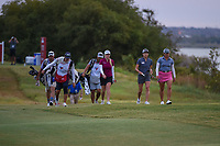 Stephanie Meadow (NIR) leads the pack down 11 during the round 2 of the Volunteers of America Texas Classic, the Old American Golf Club, The Colony, Texas, USA. 10/4/2019.<br /> Picture: Golffile | Ken Murray<br /> <br /> <br /> All photo usage must carry mandatory copyright credit (© Golffile | Ken Murray)