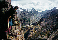 An exploratory trek in the Basho valley, Baltistan province, Karakoram mountains, Pakistan.