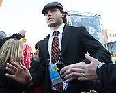 JJ Piccinich (BU - 28) - The teams walked the red carpet through the Fan Fest outside TD Garden prior to the Frozen Four final on Saturday, April 11, 2015, in Boston, Massachusetts.