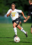 28 August 2009: University of Vermont Catamounts' midfielder Katie Deppen, a Freshman from Virginia Beach, VA, in action against the University of Montreal Carabins at Centennial Field in Burlington, Vermont. The Catamounts defeated the Carabins 3-2 in sudden death overtime. Mandatory Photo Credit: Ed Wolfstein Photo