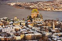 Amérique/Amérique du Nord/Canada/Québec/ Québec: depuis l'Observatoire de la Capitale au  31e étage de l'édifice Marie-Guyart