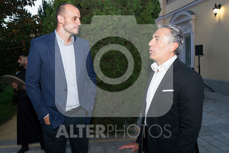 Former Player Carlos Jimenez (l) and Sergio Scariolo (r) during the first edition of Spanish Basketball Awards. July 25, 2019. (ALTERPHOTOS/Francis Gonzalez)