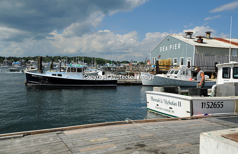 Lobster Boats in Boothbay Harbor, Maine, USA