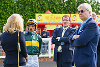 Trainer Richard Hannon and connections of Partridge in the Parade Ring during Evening Racing at Salisbury Racecourse on 25th May 2019