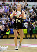 20.01.2018 Shannon Francois of Silver Ferns during the Netball Quad Series netball match between England Roses and Silver Ferns at the Copper Box Arena in London. Mandatory Photo Credit: ©Ben Queenborough/Michael Bradley Photography