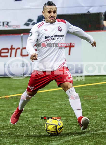 Acciones , durante el partido de futbol rápido entre Ontario Fury vs Soles de Sonora. Fecha 15 de la Major Arena Soccer League , temporada 2015-2016  (MASL). Centro de Usos Multiples (CUM) a 6 febrero 2016