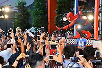 Spider-Man Double bei der Premiere des Kinofilms 'Spider-Man: Homecoming' im Kabukicho Cinecity Park. Tokio, 07.08.2017