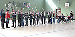 Members of Ardee Archery Club in action at Ardee Community School. Photo:Colin Bell/pressphotos.ie