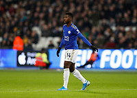 28th December 2019; London Stadium, London, England; English Premier League Football, West Ham United versus Leicester City; Kelechi Iheanacho of Leicester City  - Strictly Editorial Use Only. No use with unauthorized audio, video, data, fixture lists, club/league logos or 'live' services. Online in-match use limited to 120 images, no video emulation. No use in betting, games or single club/league/player publications