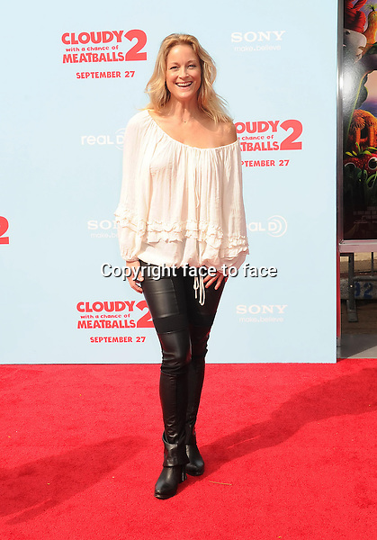 WESTWOOD, CA- SEPTEMBER 21: Actress Teri Polo arrives at the Los Angeles premiere of 'Cloudy With A Chance Of Meatballs 2' at the Regency Village Theatre on September 21, 2013 in Westwood, California.(Teri Polo)<br />