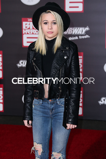 HOLLYWOOD, LOS ANGELES, CA, USA - NOVEMBER 04: Bea Miller arrives at the Los Angeles Premiere Of Disney's 'Big Hero 6' held at the El Capitan Theatre on November 4, 2014 in Hollywood, Los Angeles, California, United States. (Photo by Xavier Collin/Celebrity Monitor)