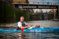 Kayaking on the River Thames, London, England