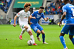 11.05.2019, PreZero Dual Arena, Sinsheim, GER, 1. FBL, TSG 1899 Hoffenheim vs. SV Werder Bremen, <br /> <br /> DFL REGULATIONS PROHIBIT ANY USE OF PHOTOGRAPHS AS IMAGE SEQUENCES AND/OR QUASI-VIDEO.<br /> <br /> im Bild: Yuya Osako (#8, SV Werder Bremen) gegen Florian Grillitsch (TSG 1899 Hoffenheim #11)<br /> <br /> Foto &copy; nordphoto / Fabisch