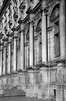 Architectural detail of columns, the Louvre, Paris, France