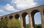 Railway viaduct crossing Colne valley opened in 1849, Chappel, Essex, England