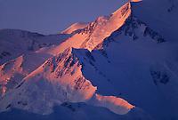 20, 3020+ Ft. Mt. Denali, Alpenglow On Pioneer Ridge Of Denali's North Face, Denali National Park, Alaska