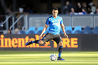 San Jose, CA - Wednesday May 17, 2017: Darwin Ceren prior to a Major League Soccer (MLS) match between the San Jose Earthquakes and Orlando City SC at Avaya Stadium.