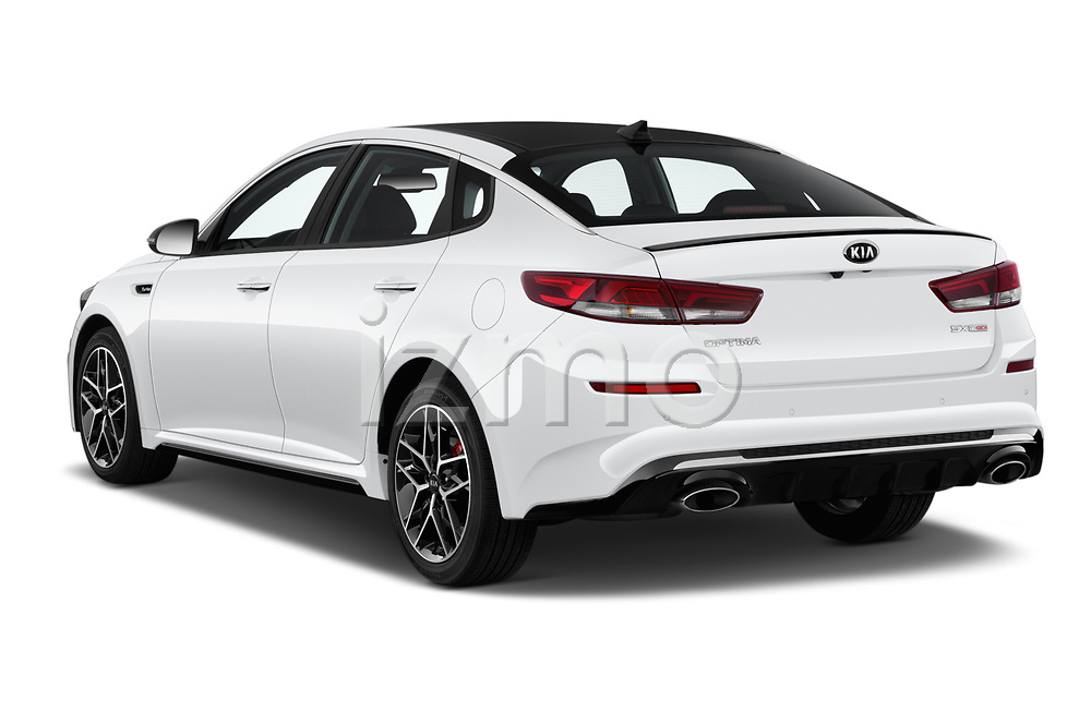 Car pictures of rear three quarter view of a 2019 KIA Optima SX-Turbo 4 Door Sedan angular rear