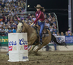 DeAnna Critton competes in the Barrel Racing event during the Reno Rodeo on Sunday, June 23, 2019.