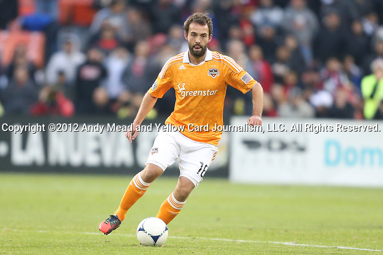 18 November 2012: Houston's Adam Moffat (SCO). DC United played the Houston Dynamo at RFK Stadium in Washington, DC in the second leg of their 2012 MLS Cup Playoffs Eastern Conference Final series. The game ended in a 1-1 tie, Houston won the series 4-2 on aggregate goals.
