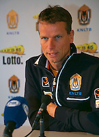 21-01-14,Netherlands, Almere,  Centerpoint, Press-conference Daviscup, ,   Daviscup Captain Jan Siemerink<br /> Photo: Henk Koster