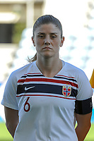 20200310 Faro , Portugal : Norwegian defender Maren Naevdal Mjelde (6) pictured during the female football game between the national teams of New Zealand and Norway on the third matchday of the Algarve Cup 2020 , a prestigious friendly womensoccer tournament in Portugal , on Tuesday 10 th March 2020 in Faro , Portugal . PHOTO SPORTPIX.BE | STIJN AUDOOREN