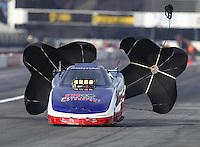 Feb 9, 2017; Pomona, CA, USA; NHRA top alcohol funny car driver Cody Perkins during qualifying for the Winternationals at Auto Club Raceway at Pomona. Mandatory Credit: Mark J. Rebilas-USA TODAY Sports