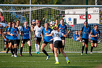 Kansas City, MO - Sunday September 3, 2017: Katie Bowen, Kelley O'Hara during a regular season National Women's Soccer League (NWSL) match between FC Kansas City and Sky Blue FC at Children's Mercy Victory Field.