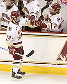 Cam Atkinson (BC - 13), Tommy Atkinson (BC - 28) - The Boston College Eagles defeated the visiting University of Vermont Catamounts 6-0 on Sunday, November 28, 2010, at Conte Forum in Chestnut Hill, Massachusetts.