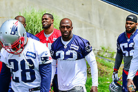 June 7, 2017: New England Patriots defensive end Devin McCourty (32) walks to practice at the New England Patriots mini camp held on the practice field at Gillette Stadium, in Foxborough, Massachusetts. Eric Canha/CSM
