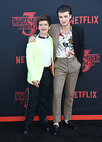 "28 June 2019 - Santa Monica, California - Gaten Matarazzo, Joe Keery. ""Stranger Things 3"" Los Angeles Premiere held at Santa Monica High School. Photo Credit: Birdie Thompson/AdMedia"
