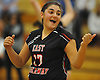 Diana Locoteta #17 of East Rockaway reacts after a point during the Nassau County varsity girls volleyball Class C championship against Carle Place at SUNY Old Westbury on Tuesday, Nov. 8, 2016. East Rockaway won 3-0.