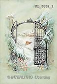 Interlitho, CHRISTMAS SANTA, SNOWMAN, nostalgic, paintings, portal, coach(KL5052/1,#X#) Weihnachten, nostalgisch, Navidad, nostálgico, illustrations, pinturas