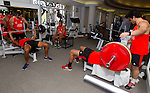 Gym session. 13 May 2015. London, England. Photo: Marc Weakley