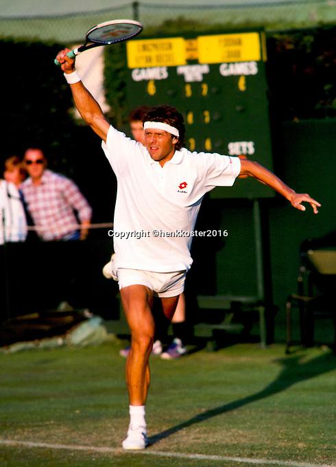 1988, London, England, June 6, Tennis, Wimbledon, Huub van Boeckel (NED)