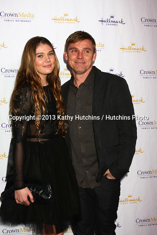 LOS ANGELES - JAN 4:  Cambrie Schroder, Rick Schroder arrives at the Hallmark Channel 2013 Winter TCA Party. at Huntington Library & Gardens on January 4, 2013 in San Marino, CA
