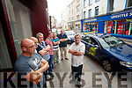 Tralee Taxi drivers protest by parking in the Mall, Tralee on Thursday.